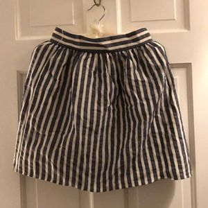 Gray and White stripped skirt